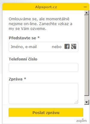 Offline formulář zákaznické podpory